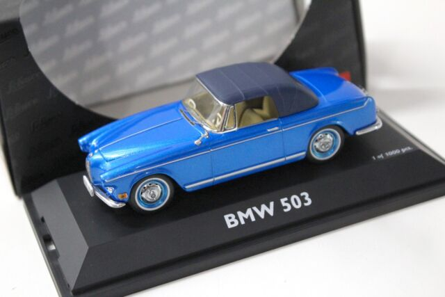 1:43 roadster BMW 503 cabriolet blue with SoftTop