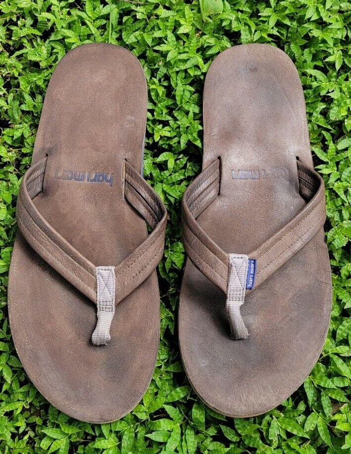 Hari Mari Scouts Leather Flip Flop Sandals Men's Size 12
