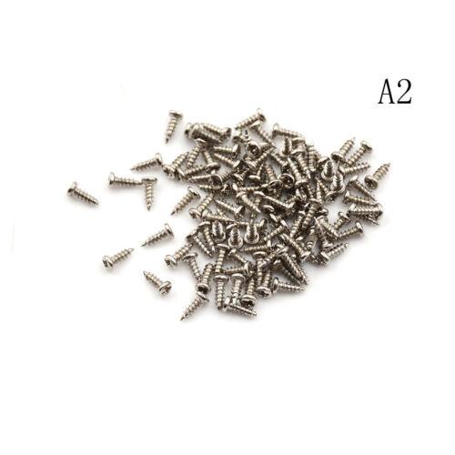 100pcs m2 Tornillo rosca diámetro cabeza redonda Cruz tornillos autorroscan~GN