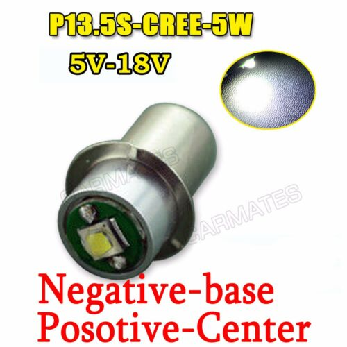 PR2 PR3 6000K CREE Maglite LED Bulb 5V-18V Magnum Star Torch FLASH LIGHT