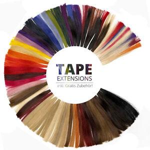 Tape-In-On-45cm-50cm-60cm-2-5g-Extensions-Straehnen-Haarverlaengerung-Echthaar