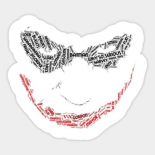 The Dark Knight Joker Movie Anime Halloween Vinyl Bumper Bottle Decal Sticker