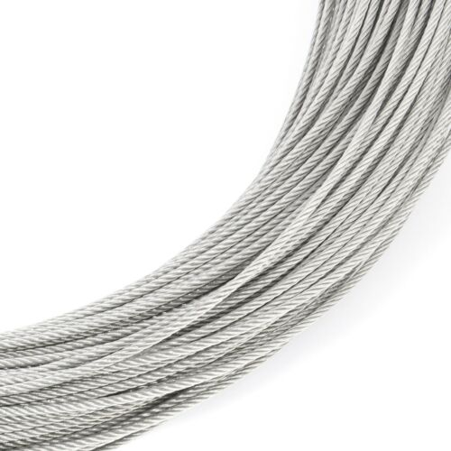 7x7 STAINLESS STEEL CABLE wire rope V4A 1mm 1.5mm 2mm 2.5mm 3mm 4mm 5mm 6mm 8mm