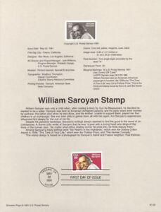 9122-29c-William-Saroyan-Stamp-2538-USPS-Souvenir-Page