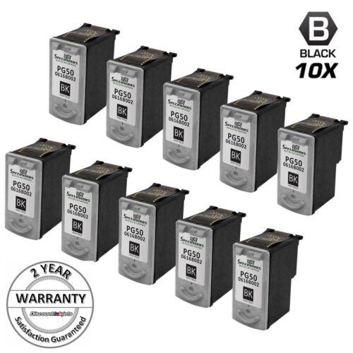 10PK for Canon PG50 PG-50 Black Ink Cartridge Pixma MP150 MP160 MP170 150 160