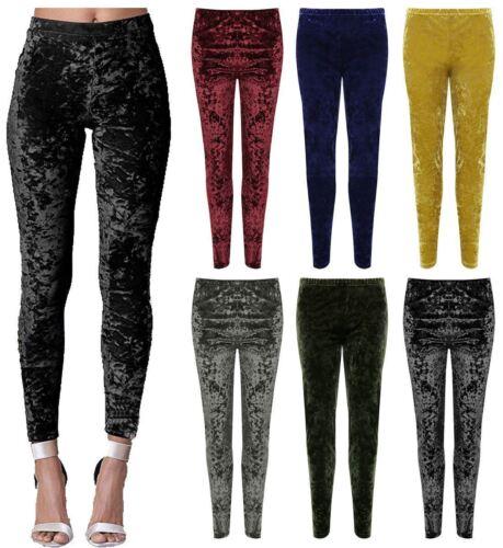 Femme Velours Écrasé Velvet Legging Femmes Pleine Longueur Taille Plus Casual Trouser