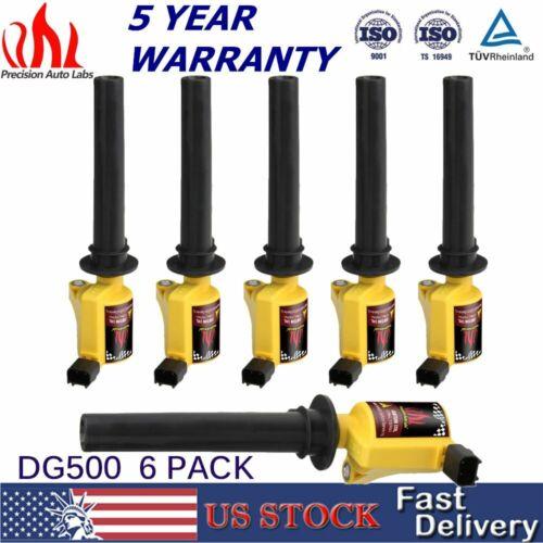 6PCS DG500 Ignition Coils Pack for 2000-2008 Ford Escape Taurus Mercury 3.0L V6
