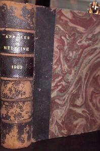 Annali Di Medicina Volume Vii-Viii 43 Figure Masson Parigi 1920 Illustre ABE