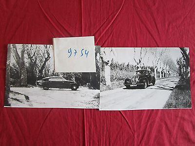 N°9754 /  PEUGEOT : 2  photographies 402 ANDREAU  1936  reprint