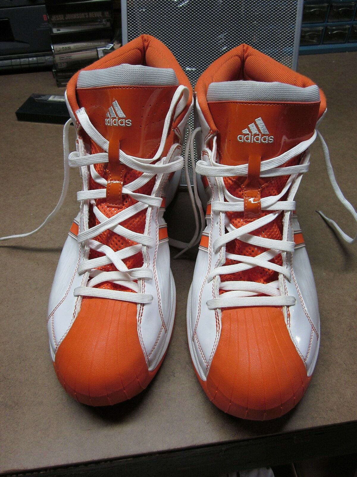 ADIDAS orange retro schuhe high top OG tennis schuhe retro 2008 old-school basketball Größe 18 e8dd01