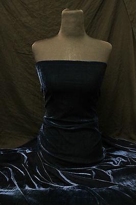 Velvet Velour Lycra Spandex 4 Way Stretch Dress-Making Crafts Fabric Material
