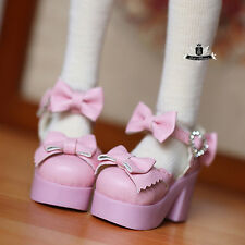 MSD 1/4 BJD Shoes Supper Dollfie Dollmore Luts AOD DOD DZ Bow Diamond High heels