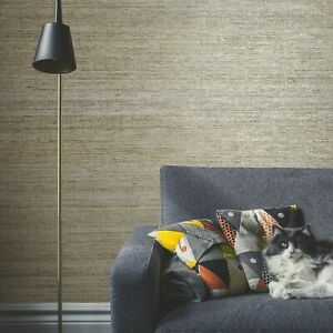 Modern-Wallpaper-taupe-Cream-Rustic-Gold-Brass-metallic-faux-grasscloth-textures