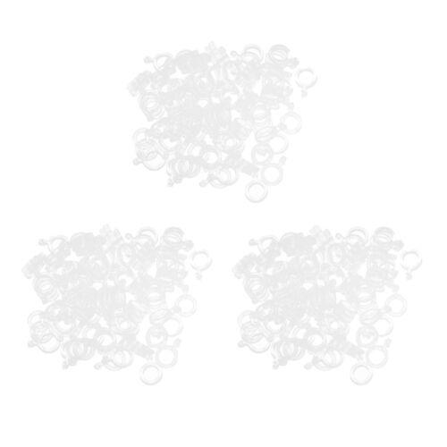 300pcs Karpfenfischen Haar Rigs Pellet Bait Bands klar Angelzubehör