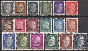 Stamp Germany Ukraine Mi 1-18 Set WWII War Adolf USSR Russia Stalin Used