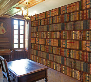 Library Bookcase Bookshelf Old Classic Books Photo Wallpaper Wall