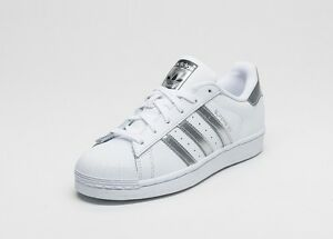 747f27b9b8df ADIDAS SUPERSTAR WHITE/ SILVER/CORE BLACK FOR GIRLS,BOYS &WOMEN IN ...