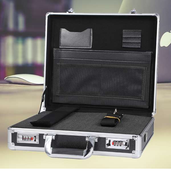 Executive Aluminum Foam Briefcase Laywer File Business Carrying Case with Pocket