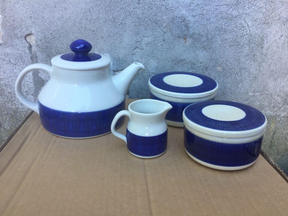Porcelæn, Tekande, smørkrukke med låg mv