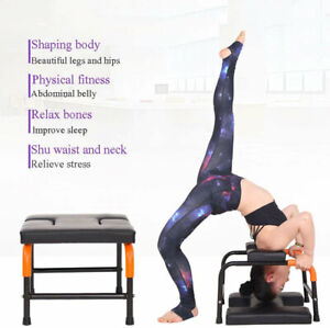 yoga headstand inversion bench chair fitness training