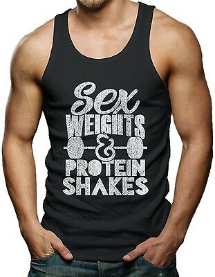 Sex Weight And Protein Shakes - Gym Workout Men's Tank Top T-shirt