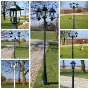 Schwarz 215cm Kandelaber Gartenlaterne  Stehlampe Gartenlicht  Laterne Weiss