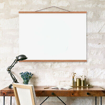 Magnet Wood Poster Hanger Photo Art Frame DIY Picture Canvas Hanging Teak//Ramin