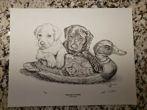 034-Partners-In-Crime-034-by-Jim-Tostrud-Pencil-Print-Signed-amp-Numbered-Duck-Hunting