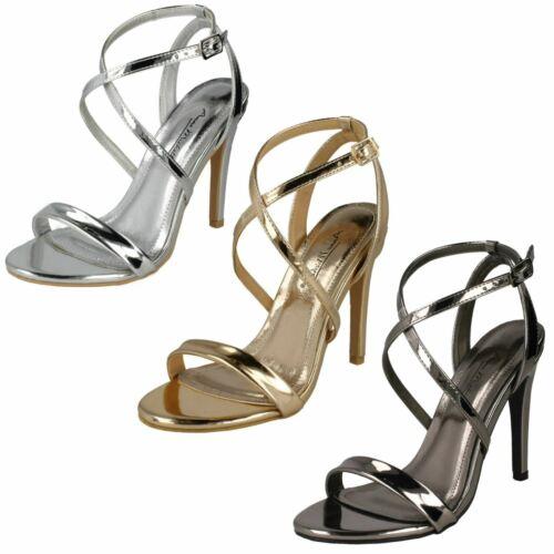 Ladies Anne Michelle High Heel Metallic *Sandals*