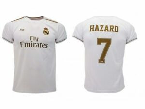 Details about Grid hazard Real Madrid 2019 2020 Official Blancos Eden 7 Gold Home NEW- show original title