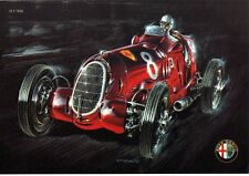 ga37 - Stampa-Mini Poster Alfa Romeo 12 C 1936