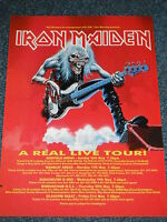 Iron Maiden A Real Live Tour Original Magazine Page Artwork Poster