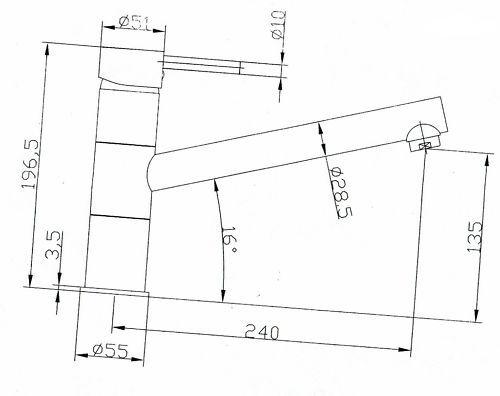 VAF Einhebelmischer 8811.ED stahl-finish Niederdruck