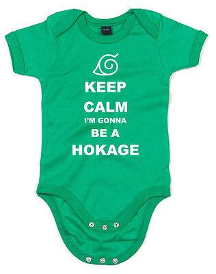Anime Naruto Inspired Printed Babygrow Keep Calm I/'m gonna be Hokage