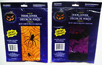 Halloween Light Up Door Covers 30''x60''spiders Or Bats Eyes Light Up