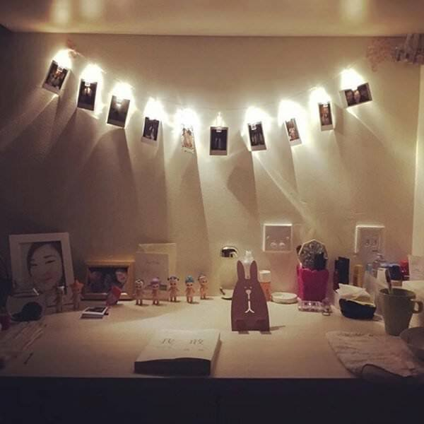 10 LEDs Hanging String Lights with Photo Display Clips for Bedroom Room New