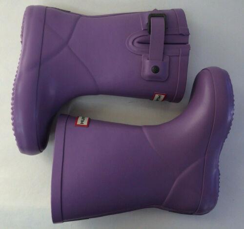 NIB Hunter Toddle Kids Flat Sole Buckle Rain Boot Lavender New UK 7 9 US 9G 11G