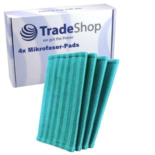 4x Mikrofaser-Pads für Philips Power Pro Aqua FC6404//01 FC6405//01 FC6408//01