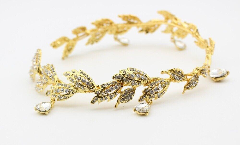 Gold Wedding Bridal Forehead Head Chain Crystal hair accessories tiara crown