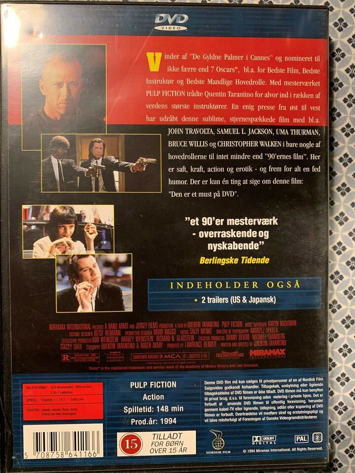 Pulp Fiction , DVD, action