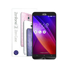 NEW ASUS ZenFone 2 ZE551ML 64GB LTE Dual-sim + Deluxe Illusion Blue Case Bundle