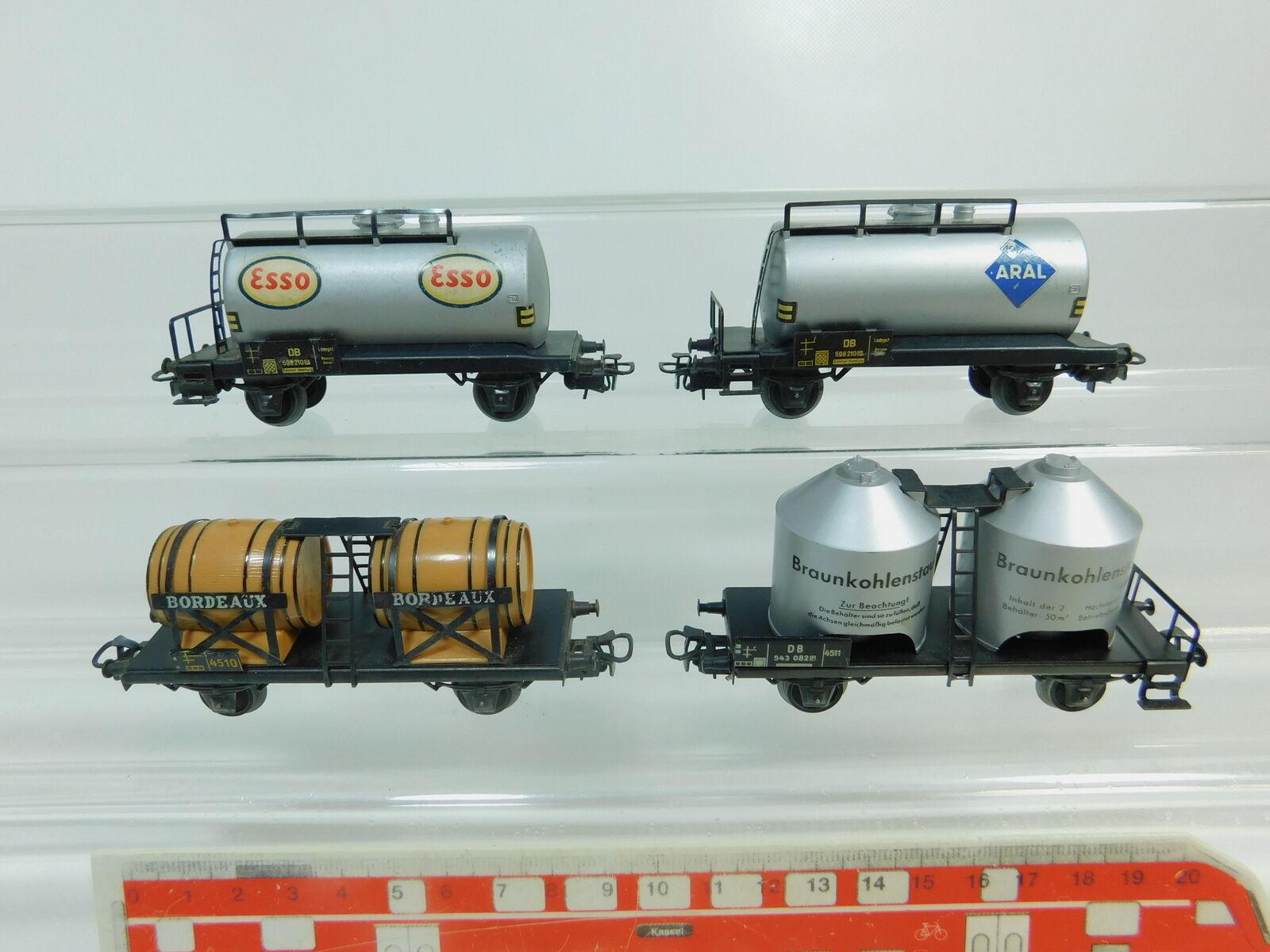 BN461-0,5 x Märklin H0   Ac Wagon de Marchandises  Esso + Aral + Bordeaux