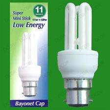 10x 11W Risparmio Energetico Basso Consumo Energetico CFL Mini Lampadina Stick