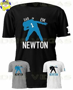 best value 1fd20 75a88 Details about Carolina Panthers Cam Newton Jersey Tee Shirt Dabbing Shadow  Dab On Em Men S-5XL