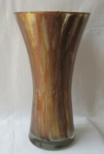 Italian Art Glass Vase Franco Italy Gold and Copper No 964 Mother's Day Gift