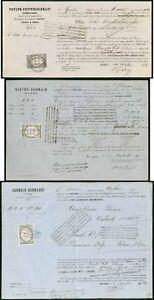 Peru-Spain-War-1872-4-bills-of-lading-France-revenues