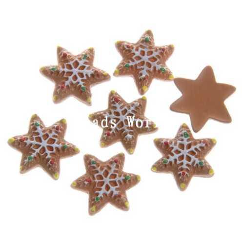 20 Pcs  Christmas Series Gift Resin Flatback Scrapbooking Embellishment 9-30mm