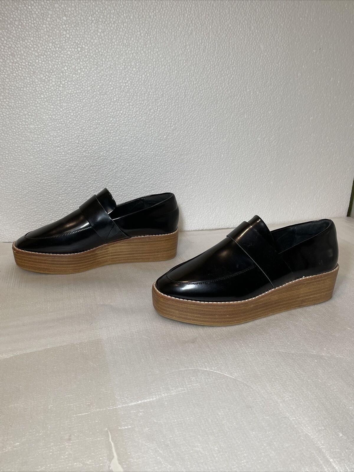 Sol Sana Anthro Platform Wood Sole Loafer Clog Size EU 38 US 7.5