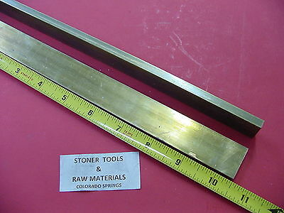 """4 Pieces 1//4/"""" x 1/"""" C360 BRASS FLAT BAR 4/"""" long Solid .250/"""" Mill Stock H02"""