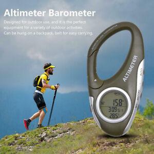 8 In 1 Karabiner Höhenmesser Barometer Thermometer Schlüsselanhänger Wandern